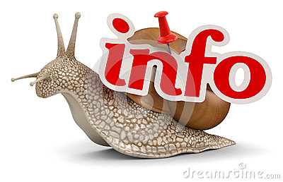 Snail and info (clipping path included)