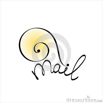 Snail mail. Concept illustration