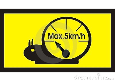 Snail speedometer speed limit