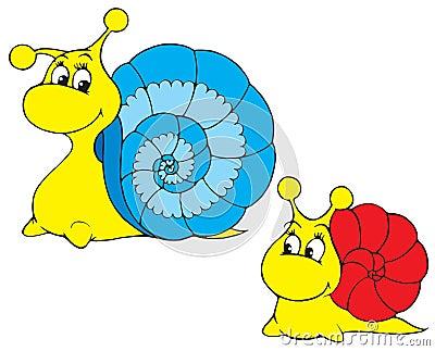 Snail (vector clip-art)