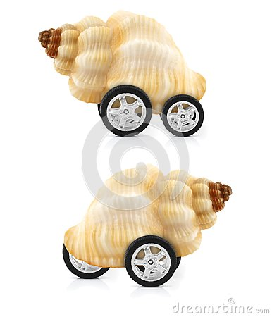 Snail on wheels