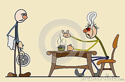 Snak wachttijd in het restaurant