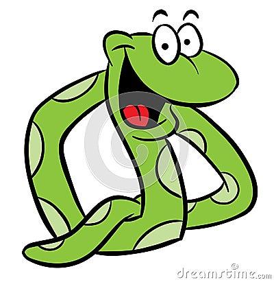 Snake cartoon illustration