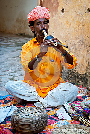Free Snake Charmer In Amber Fort, Jaipur, India Royalty Free Stock Images - 44704239