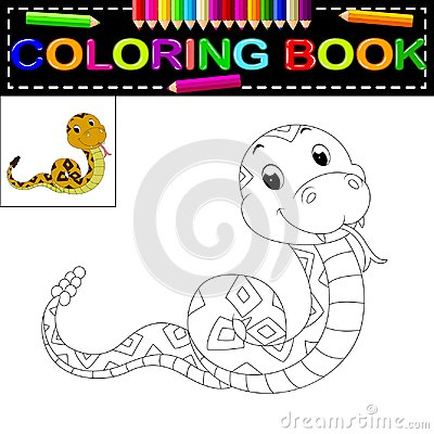 Free Snake Coloring Book Royalty Free Stock Photos - 112334568