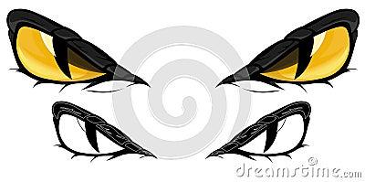 Snake eyes vector