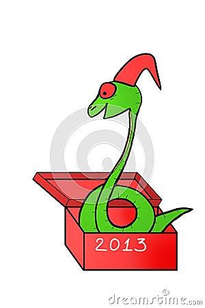 Snake in gift box