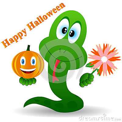 Snake in a Halloween