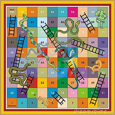 Free Snake Ladder Ludo-Print & Play Stock Photo - 4440150