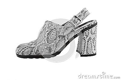 Snake leather women shoe