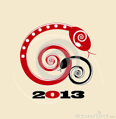 Free Business Card on Snake New Year Card 2013 Royalty Free Stock Image   Image  26767346
