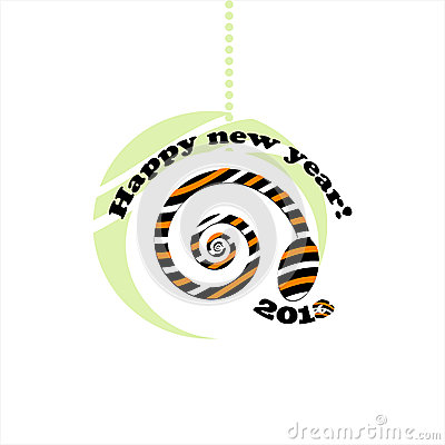 Snake new year card 2013