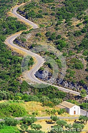 Snake road, Kythera, Greece