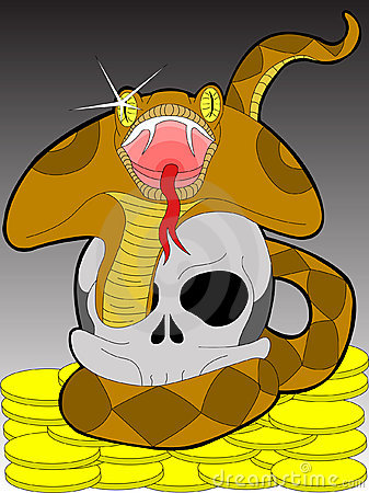 Snake and scull