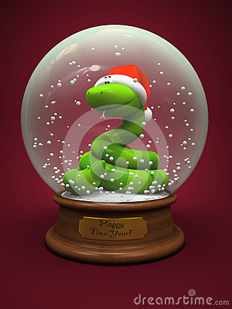 Snake in the snow globe