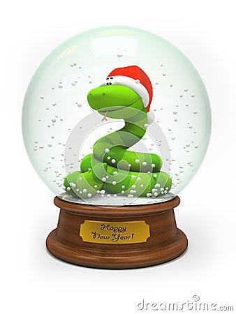 Snake in the snow globe