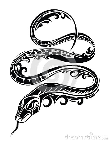 snake tattoo royalty free stock images image 26924549. Black Bedroom Furniture Sets. Home Design Ideas