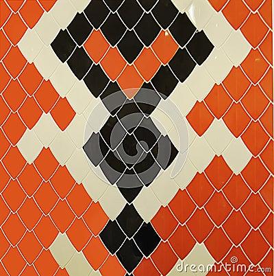 Snake Tiles Design Unique Bathroom Interior