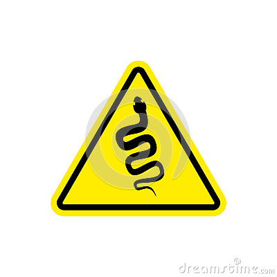 Free Snake Warning Sign Yellow. Venomous Serpent Hazard Attention Sym Stock Image - 81174381