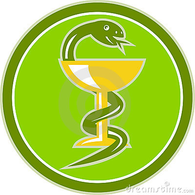 snake wine cup medicine symbol thumb13757792