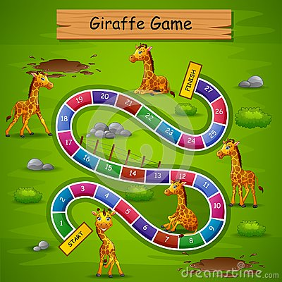 Free Snakes And Ladders Game Giraffe Theme Royalty Free Stock Photos - 124664778