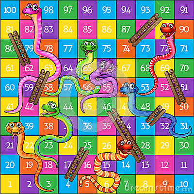 Snakes and Ladders Vector Illustration
