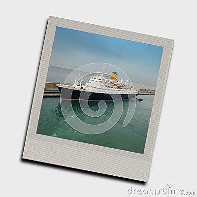 Snapshot of cruise ship