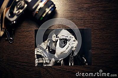 Snapshot Of Photographer With Camera Free Public Domain Cc0 Image