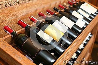 Snapshot of the wine cellar.