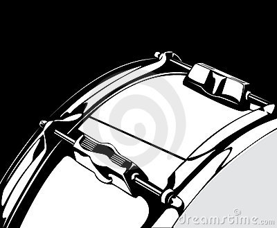 Snare drum black-white version