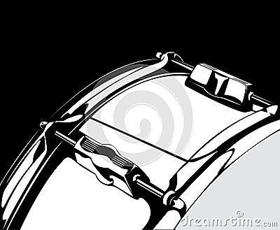 Snare drum black-white version