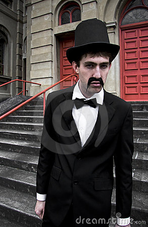 Free Snarling Top Hat Man Stock Photo - 15331410