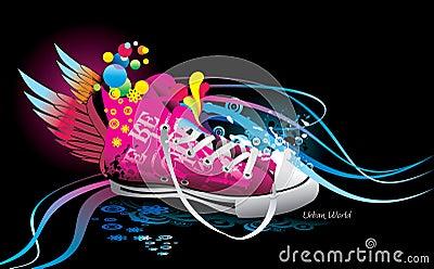 Sneaker abstract illustration
