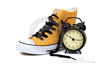 Sneaker with clock