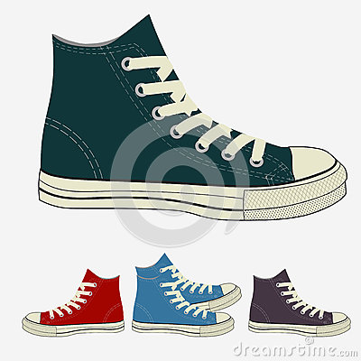 Free Sneakers Set, Sports Mens Gym Shoes Stock Photography - 80167362