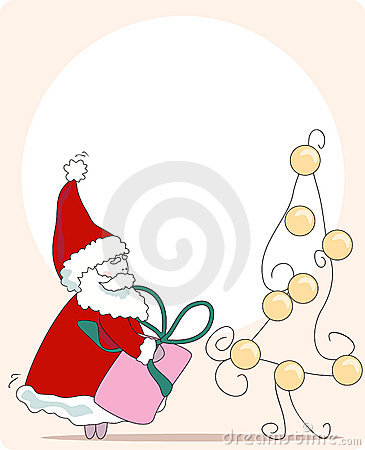 Sneaky santa. greeting card