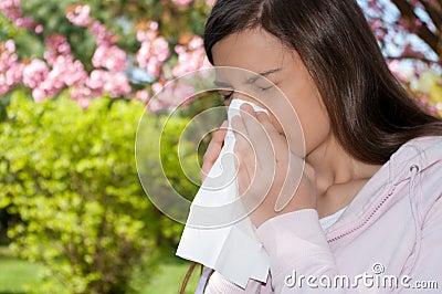 Sneeze Woman blossom