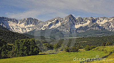 Sneffels mountain range