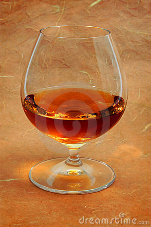 Snifter glass of cognac