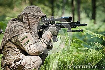 Sniper defending his ground