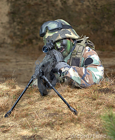 Sniper in foxhole