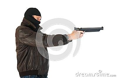 Sniper with gun