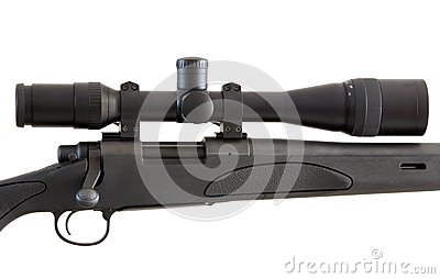 Sniper rifle isolated on white