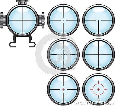Sniper scope set
