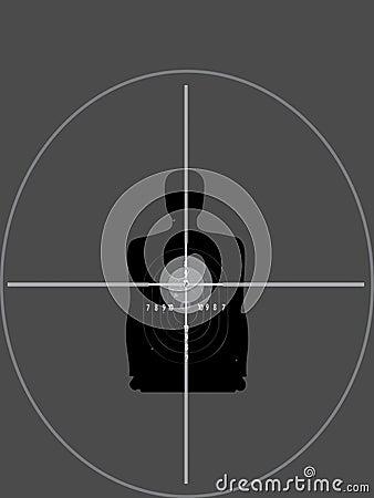 Sniper shutting target