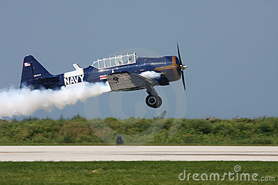 SNJ-4 Navy Trainer Editorial Stock Image