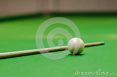 Snooker ball on table