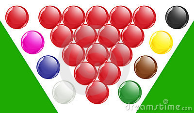 Snooker Balls With Green Base