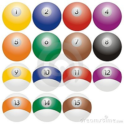 Snooker or billiard balls