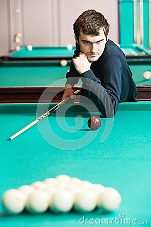 Snooker billiard player
